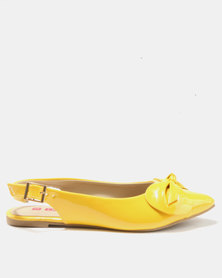 Legit Pointy Slingback With Bow Detail Yellow