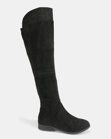 d456d924737 Legit Long Knee High Flat Boots Black