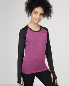 Utopia Two-Tone Running Top Purple