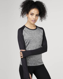 Utopia Two-Tone Running Top Grey