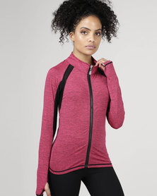 Utopia Zip Up Jacket Pink