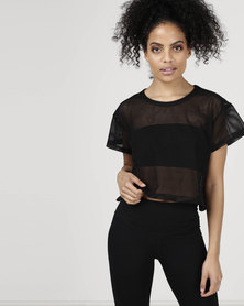 Utopia Mesh Top Black