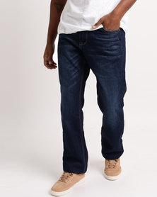 Soviet  M Whitecaps 12 Straight Leg Jeans Indigo