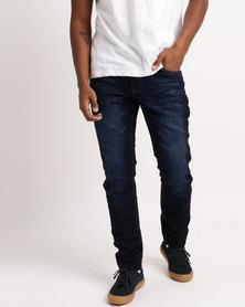 Soviet  Mens Slater Skinny Jolt Jeans Dark Indigo