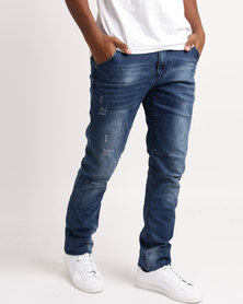 Soviet M Motherwell 9 Slim Leg Jeans Blue