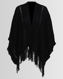 Blackcherry Bag Poncho Black