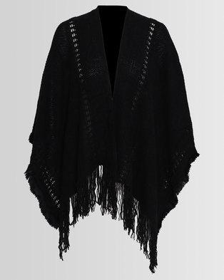 Blackcherry Bag Poncho Black