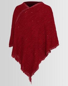 Blackcherry Bag Diva Poncho Red