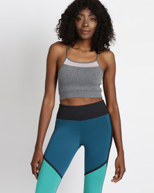 FIT Gymwear Stardust Crop Grey Mel