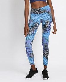 FIT Gymwear Leafy Print Skinny Leggings Multi