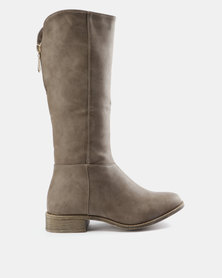 AWOL Sweetheart Rider Boots Taupe