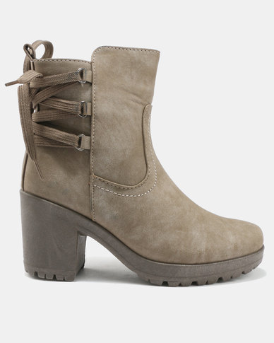 clearance top quality AWOL AWOL Back Lace Biker Boots Khaki outlet hot sale eastbay online pay with paypal sale online bEYS8pTjRS