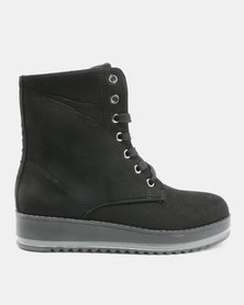AWOL Lace Up Boots Black