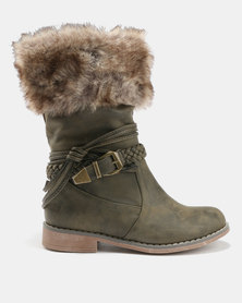AWOL AWOL Brogue Combat Boots Olive comfortable online sale looking for UiQQA4Zn68