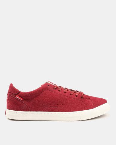 Levi's® Bruno Suede Sneakers Burgundy