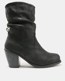 Jeep Musk Heeled Mid Boots Black