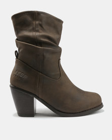 Jeep Musk Heeled Mid Boots Brown