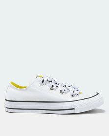 Converse Chuck Taylor All Star Big Eyelets Ox White/Black/Yellow