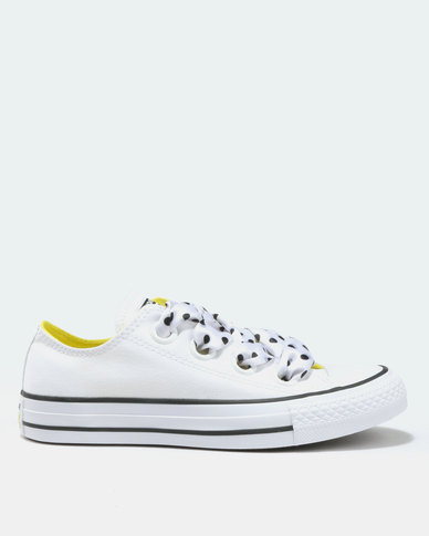 99a26652a5e Converse Chuck Taylor All Star Big Eyelets Ox White Black Yellow