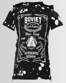 Soviet Chaves Short Sleeve T With Hood Black