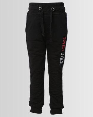 Soviet Boys Track Pants Black