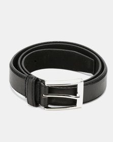 Soviet Ceres Mens PU Classic Belt Black