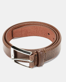 Soviet Ceres Mens PU Calssic Belt Brown