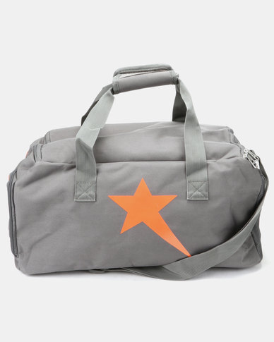 Soviet Castle Travel/ Tog Bag Charcoal/Neon Orange