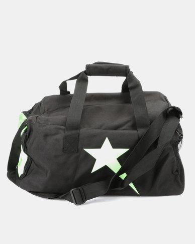 Soviet Castle Travel/Tog Bag Black/Lime Green