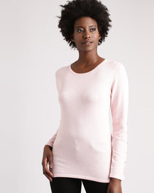 cath.nic By Queenspark Split Sleeve Knitwear Pink