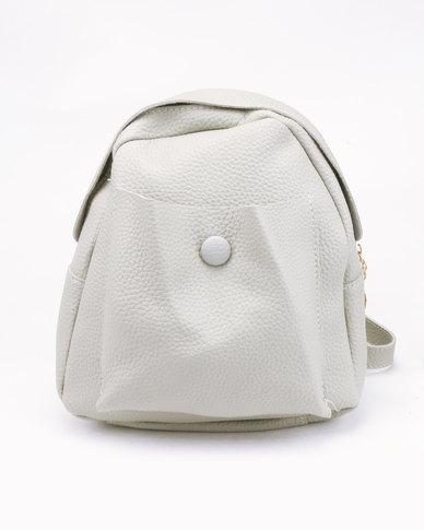 Miss Maxi Front Pocket Backpack Grey