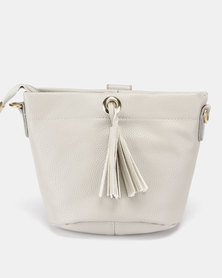 Miss Maxi Mini Bucket Bag Grey