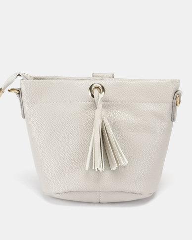 Miss Maxi Mini Bucket Bag Grey