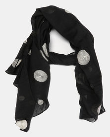Miss Maxi Dotted Scarf Black