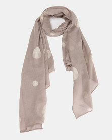 Miss Maxi Dotted Scarf Beige