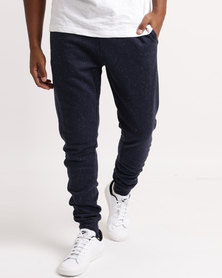 Lizzard Wylie Mens Elasticated Trackpants Navy