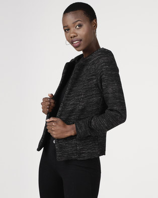 Utopia Tweed Jacket Black/Grey