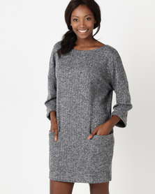 Utopia Cut n Sew Tunic Dress Grey