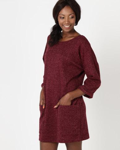 Utopia Cut n Sew Tunic Dress Red
