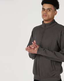 Fruit of the Loom Zip Thru Sweat Jacket Light Graphite