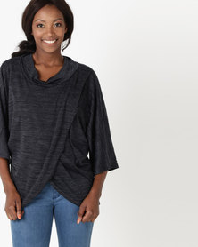 Utopia Cut n Sew Cacoon Wrap Charcoal