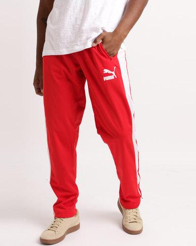 1bab3edcebf1 Puma T7 Track Pants Red White