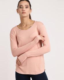 MOVEPRETTY Pretty Me Long Sleeve Tee Pink