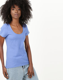 Betty Basics Scoop Neck T-Shirt Blue