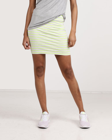 Betty Basics Stripe Mini Skirt Lime/White