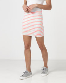 Betty Basics Stripe Mini Skirt Pink/White