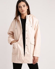 All About Eve Mercury Coated Jacket Pink