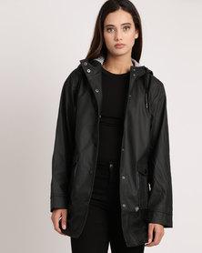 All About Eve Mercury Coated Jacket Black