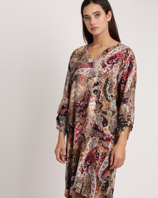 Game Of Threads Paisley Printed Tunic Dress Multi
