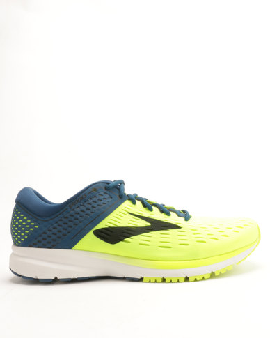 5539416dcfb Brooks Ravenna 9 Running Shoes Lime Navy Blue